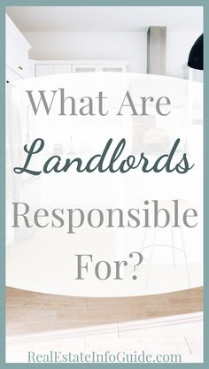 What Is My Landlord Responsible For? Income Property, Investment Property, Rental Property, Rental Homes, Real Estate Rentals, Real Estate Tips, Home Selling Tips, Real Estate Investing, Property Management
