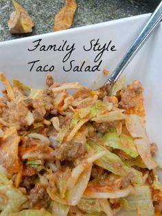 Family Style Taco Salad