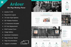 Ardour Wedding One Page Joomla Theme by webunderdog on Creative Market