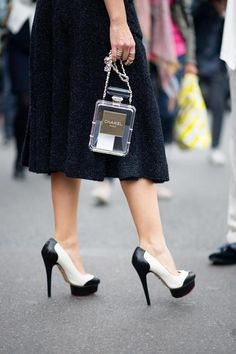 — Charlotte Olympia Pumps & Chanel transparent box purse (image: thecut)