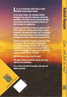 Back cover blurb of Love...Will find its way?