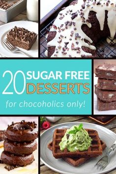 20 Sugar Free Desserts for Chocoholics Only - Sugar Free Chocolate Recipes from Tasteaholics