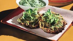Zuchinni Fritters with Green Goddess Dip