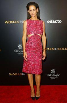 Katie Holmes in Zac Posen - 'Woman in Gold' premiere