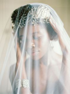 Production, Creative Direction and Styling : Pearl & Godiva | Photographer : Brumley and Wells. Natural hair brides. Afro hair brides. Natural bridal hair styles. Afro bride.