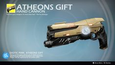 Atheons Gift (Exotic Concept by ControllaSkylz) by on DeviantArt Sci Fi Armor, Sci Fi Weapons, Weapon Concept Art, Fantasy Weapons, Destiny Cosplay, Destiny Video Game, Destiny Comic, Destiny Hunter, Destiny Bungie