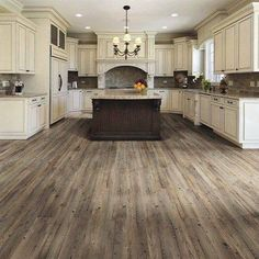 Main living/kitchen flooring TrafficMASTER Allure Ultra Wide in. Southern Hickory Resilient Vinyl Plank Flooring with SimpleFit End Joint sq. / - The Home Depot Style At Home, Future House, My House, Grey Wood Floors, Grey Flooring, Grey Hardwood, Distressed Wood Floors, Rustic Floors, Hickory Flooring