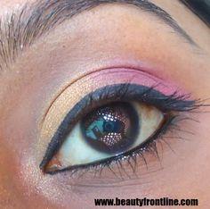 Gold & Pink eye makeup