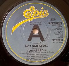 Tomas Ledin - Swedish singer/songwriter, backing singer on world tour 1979 for ABBA. Single not a hit in UK, but did chart with ABBA singer Agnetha Fältskog with Never Again.