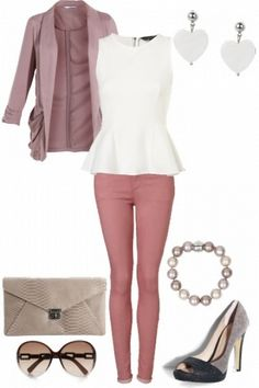 Blush pink, cute outfit