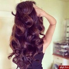 Big bouncy curls, long voluminous hair. Latina hair brunette curls rollers dark hair
