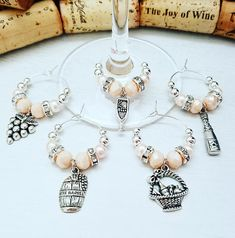 a3d2645572759 243 Best Wine Themed Gifts images in 2019 | Wine glass charms, Wine ...