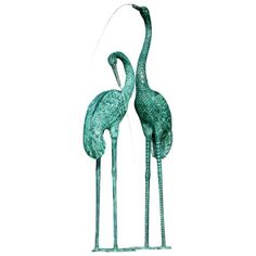 Extra Large Crane Pair Pond or Water Feature Fountain -