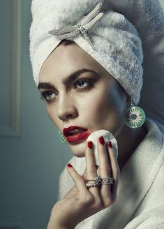 Patrycja Gardygajlo by Rene Habermacher for Vogue Japan December 2012