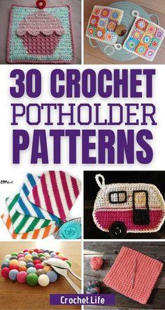 Crochet Potholders, Free Crochet Potholder Patterns, Dishcloth Crochet, Crochet Coaster, Crocheting Patterns, Crochet Gifts, Crochet Yarn, Crochet Geek, Beginner Crochet