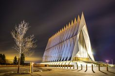 Air Force Academy Chapel on a Frosty Night