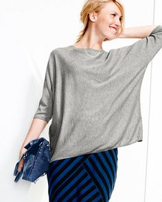 Boxy Oversized Sweater Love this easy shape with pants or a skirt.