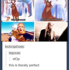 Legolas and Thranduil / Bambi and the King of the forest
