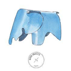 Good objects - Eames elephant @vitrafurniture @eamesoffice #goodobjects #illustration