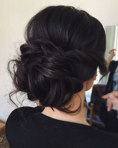 Loose updo more bridesmaid hair updo messy, messy bridal hair, prom hair bun , Special Occasion Hairstyles, Fancy Hairstyles, Straight Hairstyles, Hairstyle Ideas, Hair Ideas, Bridal Hairstyles, Straight Updo, Black Hairstyles, Bridesmaid Hairstyles