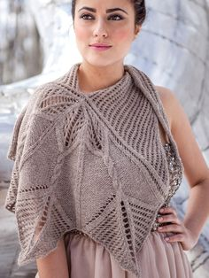 Knitting And Beading Wedding Bridal Accessories and Free pattern: Capelet and Wrap
