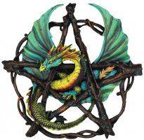 Forest Pentagram Dragon Wall Plaque