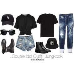 Couple Idol Outfit: Jungkook by btsoutfits on Polyvore featuring polyvore, fashion, style, T By Alexander Wang, Dsquared2 and clothing