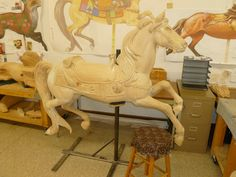 The Albany Brass Ring Carousel Studio in Oregon builds traditional carousel animals in their workshop. Take a tour and see a slice of youthful Americana! Discover more at www.discoveramerica.com.