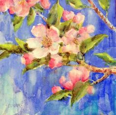 Apple Blossom Study, painting by artist Julie Ford Oliver