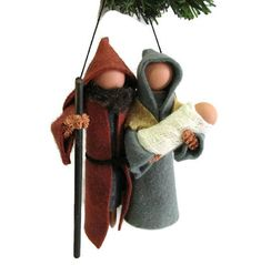 Nativity Christmas Ornament Jesus Mary and Joseph Nativity Ornaments, Christmas Nativity Scene, Christmas Ornament Crafts, Handmade Ornaments, Nativity Scenes, Christmas Ideas, Felt Ornaments, Christmas Decorations, Christmas Time