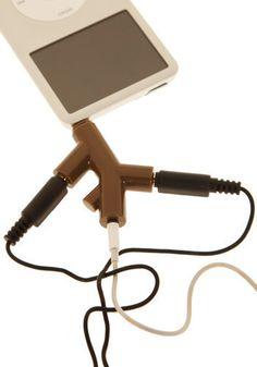 Tree-t for Your Ears Headphone Splitter in Bark