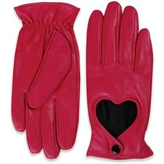 'Heartbreaker' Pink Leather Gloves ($35) ❤ liked on Polyvore featuring accessories, gloves, pink, lined gloves, studded gloves, pink gloves, leather gloves and pink leather gloves