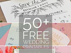 50+ MORE free wedding printables and DIY wedding downloads