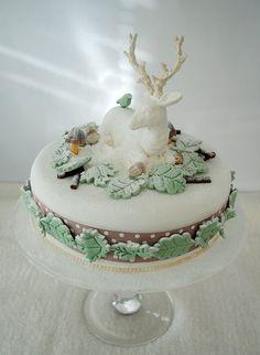My winter woodland Christmas cake | Flickr: Intercambio de fotos
