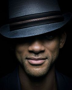 Will Smith! I love it when guys take these up close photos, with the hat to just set it off! Pure Gorgeousness!