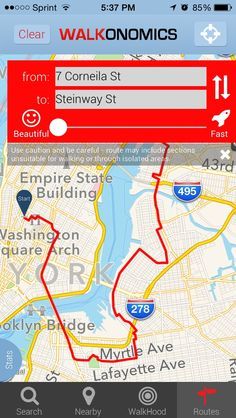 Walkonomics: New App Helps You 'Enjoy the Ride'