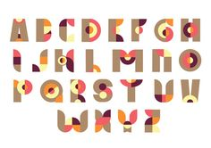 Clock Typeface by Petra Blahova, via Behance