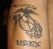If I ever married a Marine or someone in the military I would get a tattoo of their symbol.