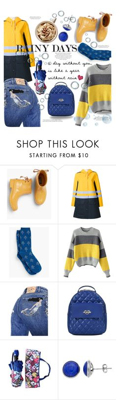 """Rainy Days: blue&yellow!"" by marta7chi ❤ liked on Polyvore featuring Talbots, Marni, Marc Jacobs, Love Moschino and Lazuli"