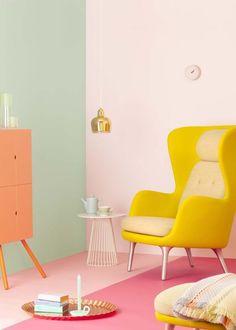32 Ideas Living Room Wallpaper Ideas Home Decor For 2019 Home Design, Home Interior Design, Interior Architecture, Interior Modern, Scandinavian Interior, Design Design, Room Color Schemes, Room Colors, Colours