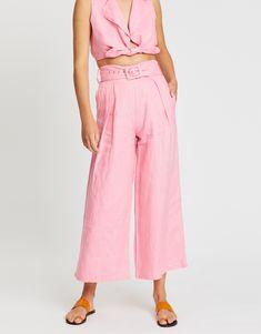 Lena Wide-Leg Pants Earthy Color Palette, Faithfull The Brand, Wide Leg Pants, Wrap Dress, Legs, Stuff To Buy, Dresses, Summer, Style