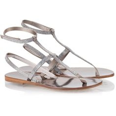 Pedro Garcia - ILANIA Crystal-embellished pyrite satin sandals ($560) ❤ liked on Polyvore featuring shoes, sandals, silver, pedro garcia sandals, swarovski crystal sandals, summer shoes, decorating shoes and crystal embellished sandals