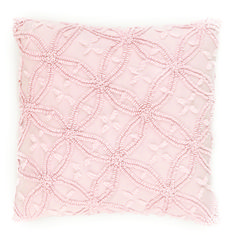 Candlewick Pale Rose Decorative Pillows