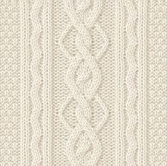 Cable Columns and Long Seed Stitch Knit Pattern. More Great Patterns Like This