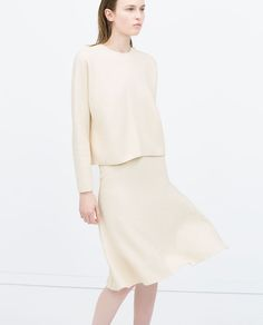 ZARA SS15 | Structured knit skirt with matching cap sleeve top - Between-season #musthave for the style-conscious #modest mind