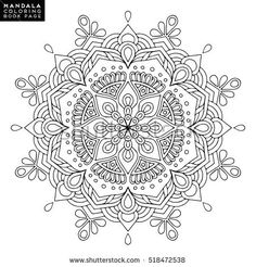 Find Flower Mandala Vintage Decorative Elements Oriental stock images in HD and millions of other royalty-free stock photos, illustrations and vectors in the Shutterstock collection. Pattern Coloring Pages, Coloring Book Pages, Coloring Sheets, Mandala Drawing, Mandala Painting, Mandala Book, Mandala Oriental, Indian Mandala, Scroll Pattern
