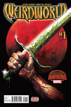 Weirdworld #1, by Jason Aaron and Mike Del Mundo w/ Marco D'Alfonso  Weirdworldis right! Holy crap is that ever a fitting title to... whatever it was that had ...,  #JasonAaron #Marvel #MikeDelMundo #review #SecretWars #TylerGoulet #WEIRDWORLD