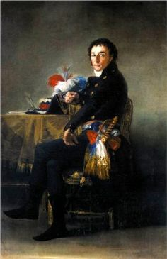 Retrato de Fernando Guillemardet  - Francisco de Goya  ~Repinned Via Amparo Mañez