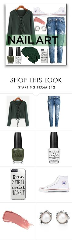 """""""Boyfriend Jeans ❤"""" by justgottalive2 ❤ liked on Polyvore featuring beauty, H&M, OPI, Converse, Smith & Cult and Tiffany & Co."""