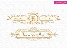 luxury wedding logo-wedding logo-wedding crest-custom wedding